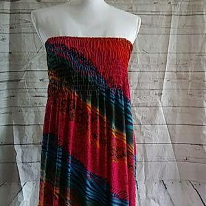 Dots Animal Print Maxi Dress 3x